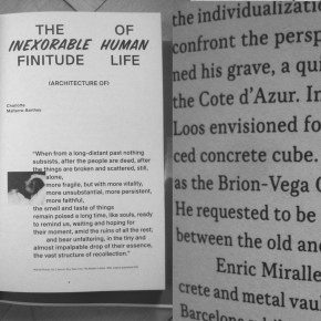 the inexorable finitude of human life (architecture of) published