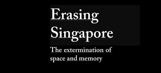 """Erasing Singapore"" to be exhibited in Seoul"